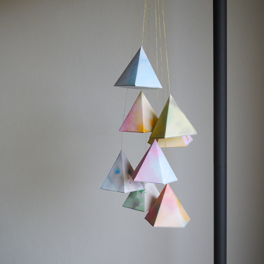 diy: hanging geometric paper shapes | south by north