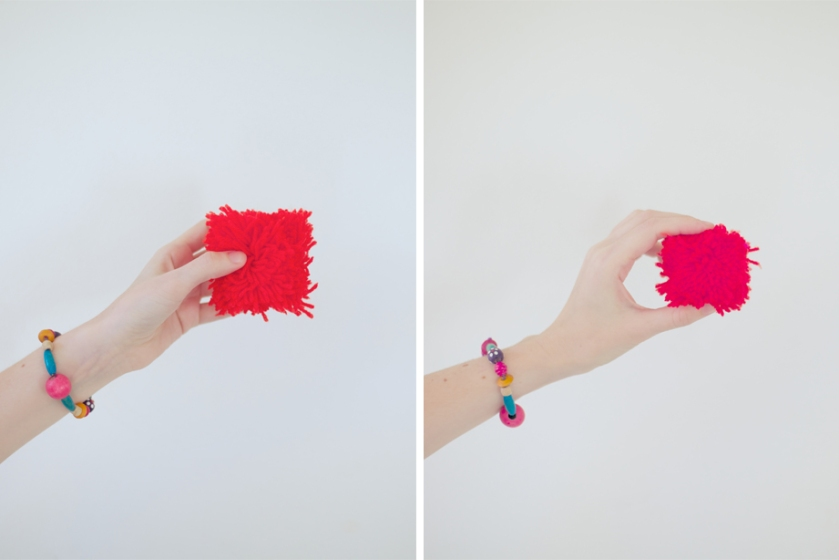 diy square pom poms | south by north