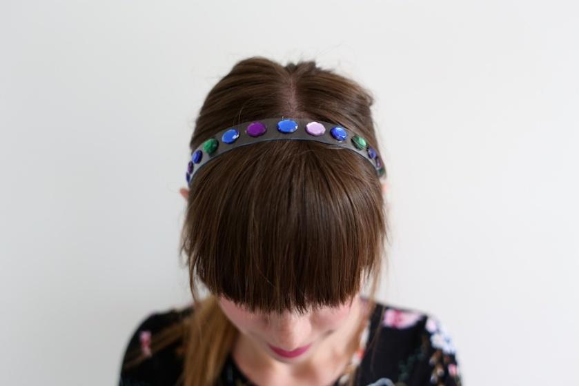 diy gem headband | south by north