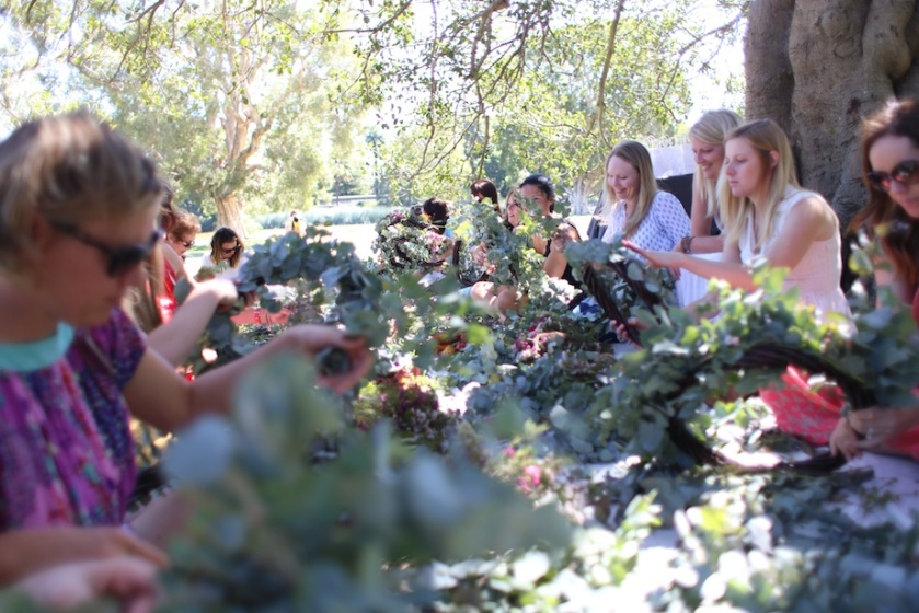 wreath-making workshop   south by north