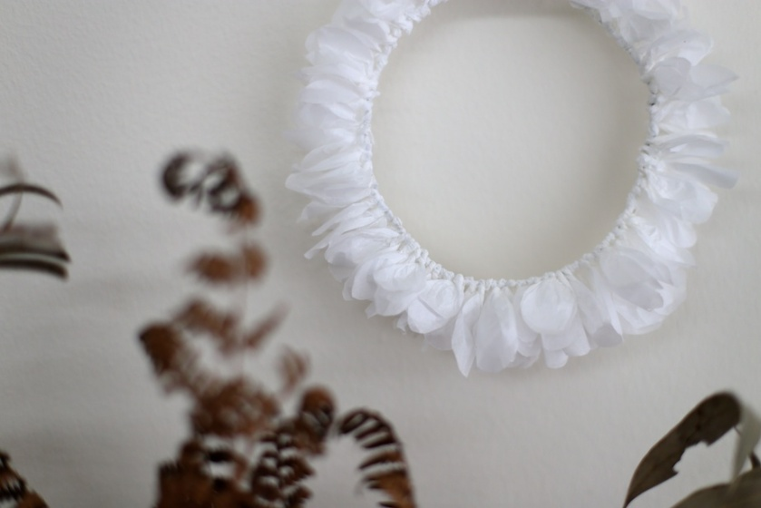diy paper wreath | south by north