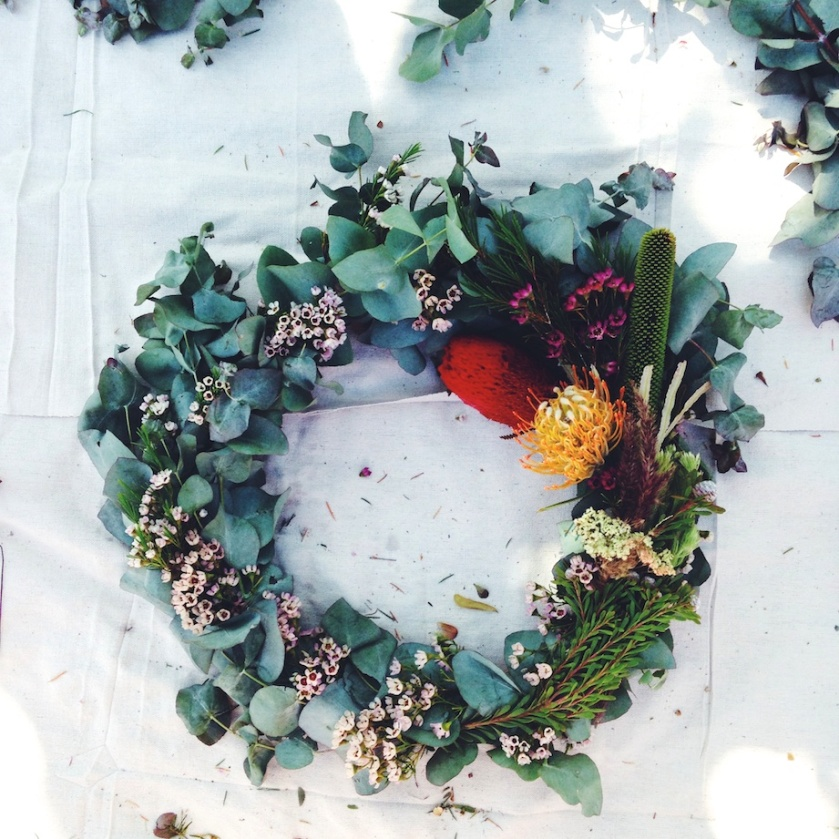 wreath making workshop | south by north