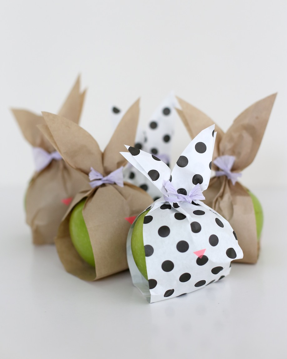 paper bunny fruit bags | south by north