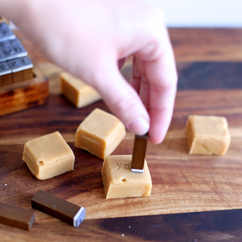 diy stamped fudge | south by north