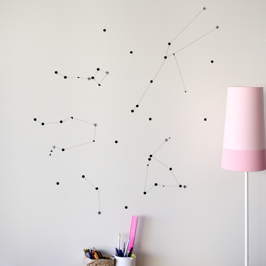 diy constellation wall decor | south by north