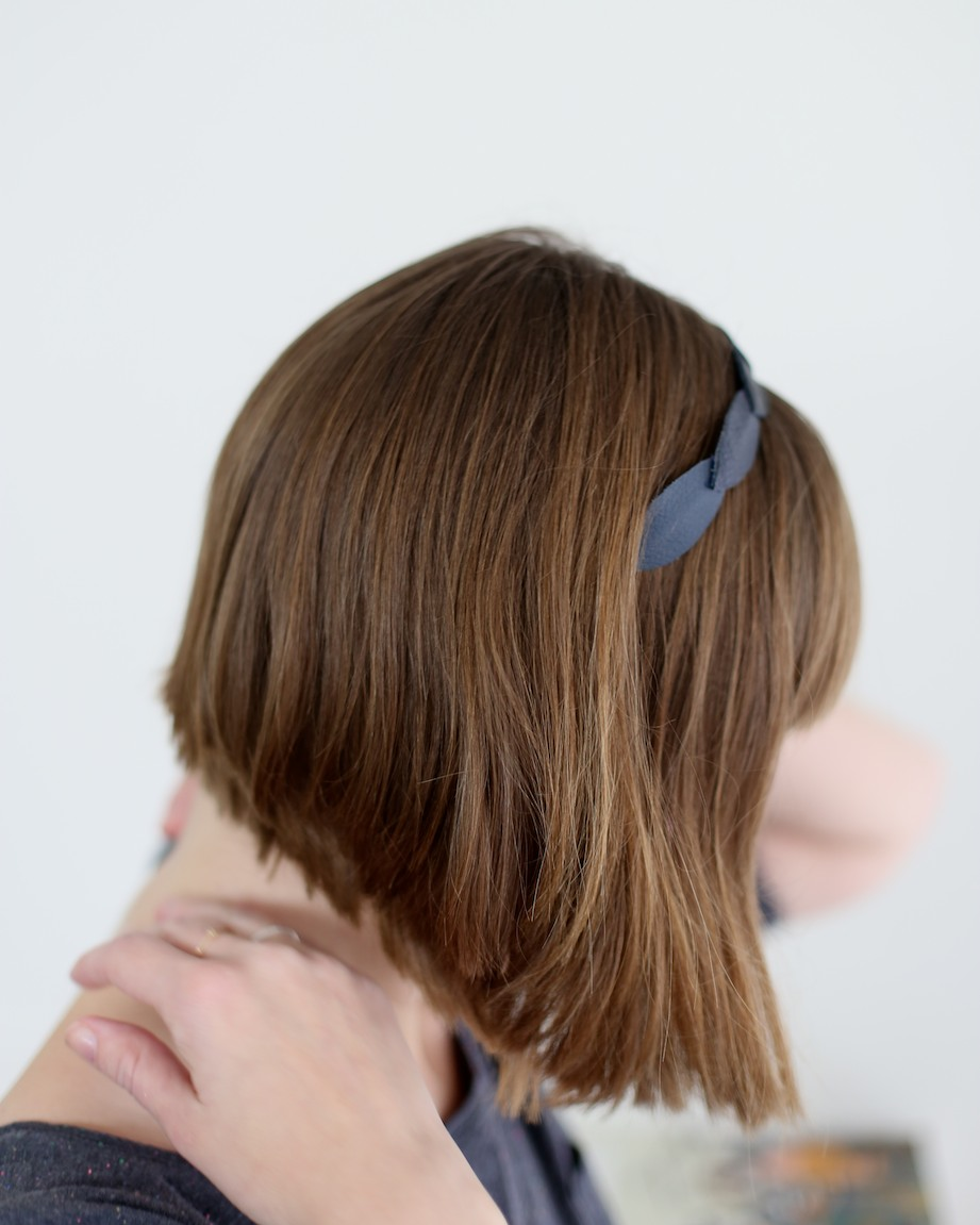 diy leather headband | south by north