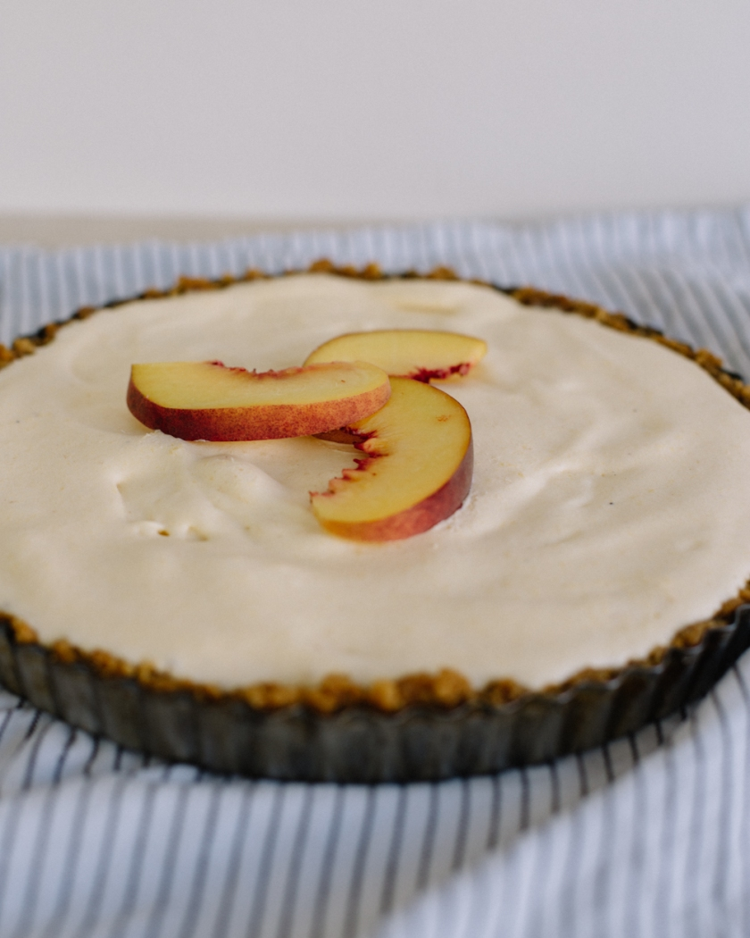 peach and ginger ice cream pie | south by north
