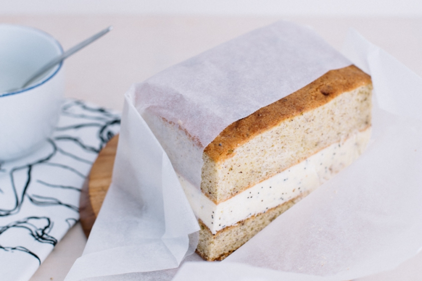 lemon drizzle ice cream cake | south by north