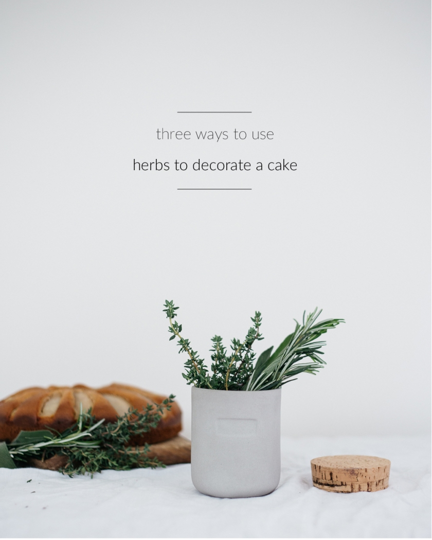 decorate a cake with herbs | south by north